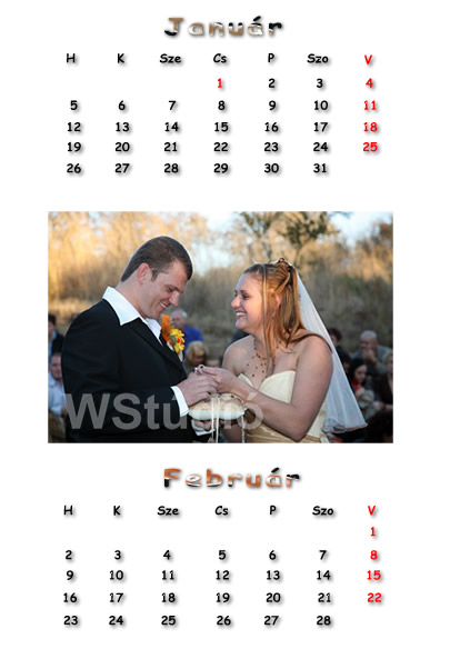 2015 - ös ajándék naptárak